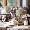 Janelle of Special Event Rentals made the rustic wedding theme come together perfectly.