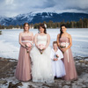 Dusty rose was the perfect choice for the bridesmaids.