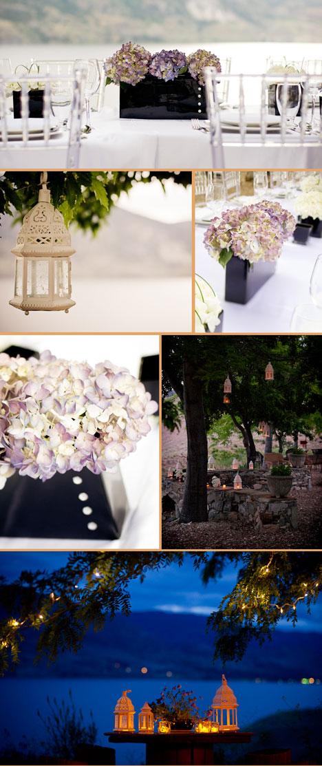 wedding decor, lakeside wedding reception