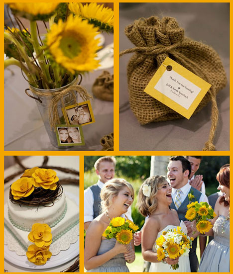 Oh Lovely Day blog : A great DIY, economical, yellow-themed, summer wedding