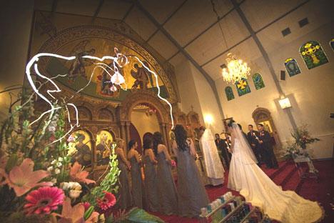 Greek wedding, at St George cathedral in Edmonton
