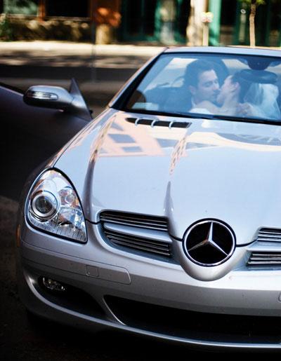 The classic Mercedes wedding shot!