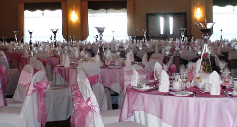 wedding decor, chair covers