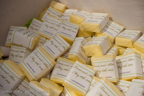 lavender soap wedding favours
