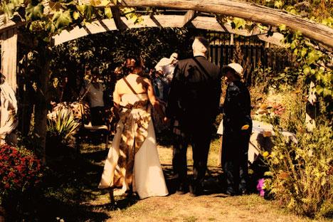 Amanda & paul's garden wedding