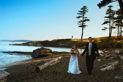 On the beach, on Pender Island, BC