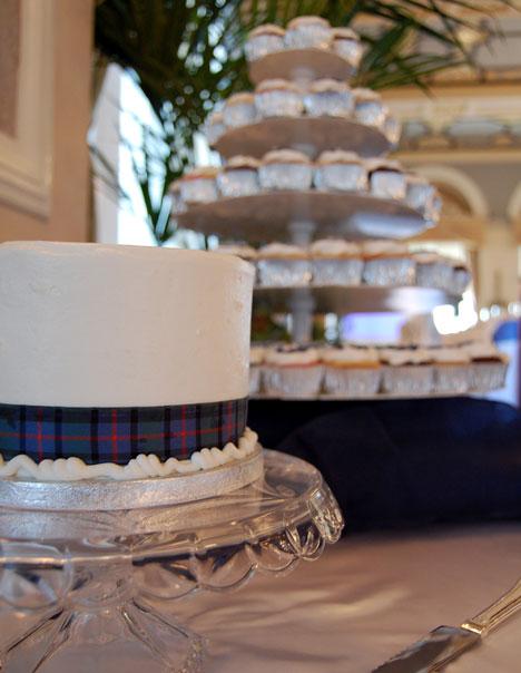 organic carrot cake wedding cake and cupcakes
