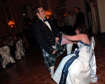 scottish wedding garter toss