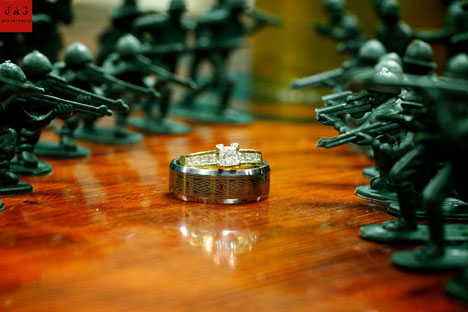 wedding rings - military wedding