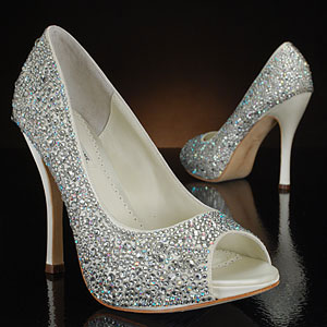 Rhinestone & crystal wedding shoes by Benjamin Adams 2012 (London)