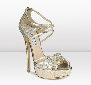 Sparkling crystal high heels by Jimmy Choo