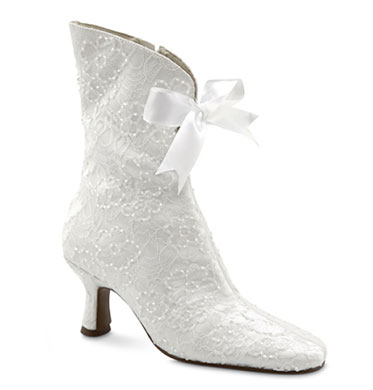 Granny boots wedding shoes