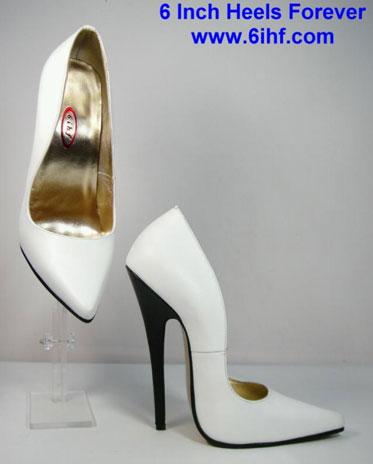 Super-high, 6-inch heels