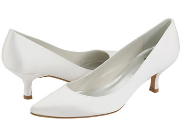 Classic wedding pumps, with a medium heel, from Zappos.com