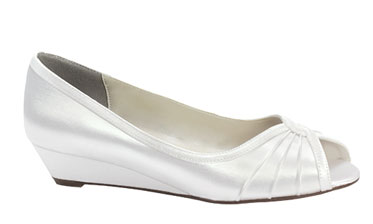 Wedding shoes with comfortable wedge heels