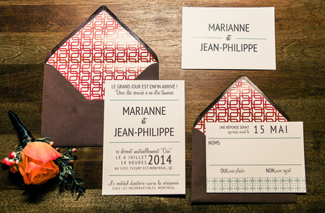 Sophisticated fifities retro syle wedding invitations