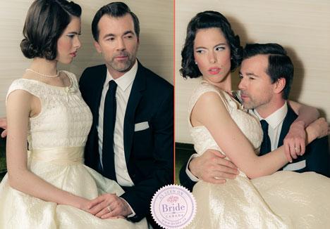Fifties bride and groom