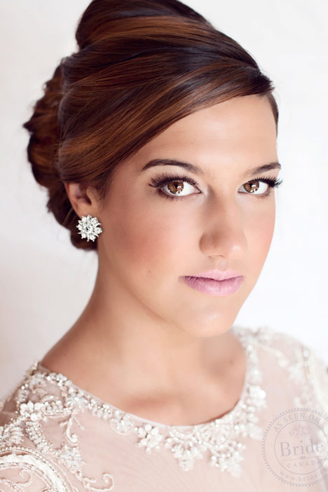 Romantic bridal makeup