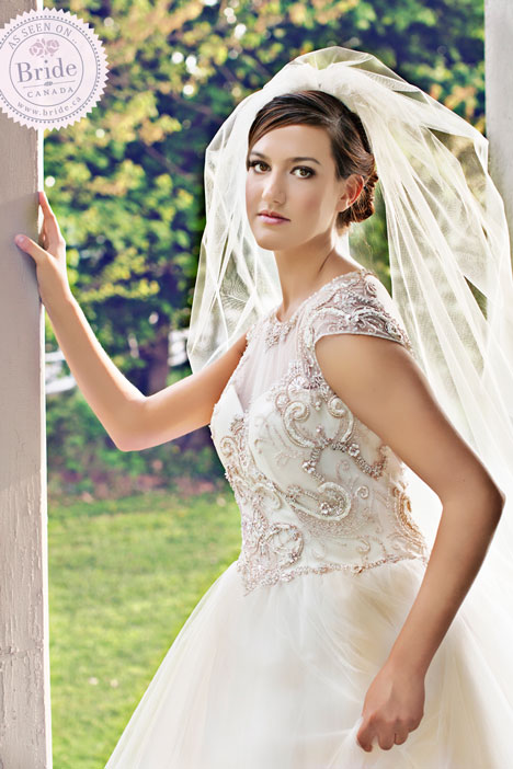 CB Couture Illusion wedding dress + veil