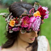 A floral crown is the perfect accessory to add drama to your wedding day look.