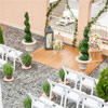 The rooftop at The Plaza Hotel Kamloops offers a gorgeous, private spot to wed.
