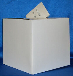 Plain, cardboard box, DIY wedding money box