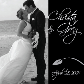 Christa and Greg's personalized wedding wine label