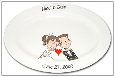 Another wedding guest signature platter