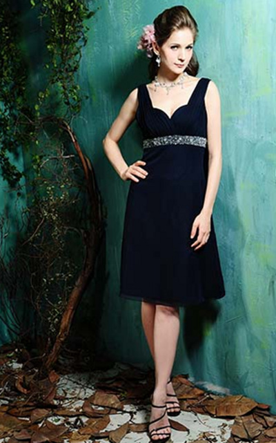 Eden bridals, navy blue bridesmaids dress