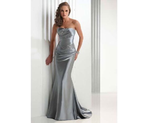 Moonlight silver prom &amp; bridesmaids dress