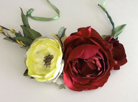 wedding corsage flower marsala