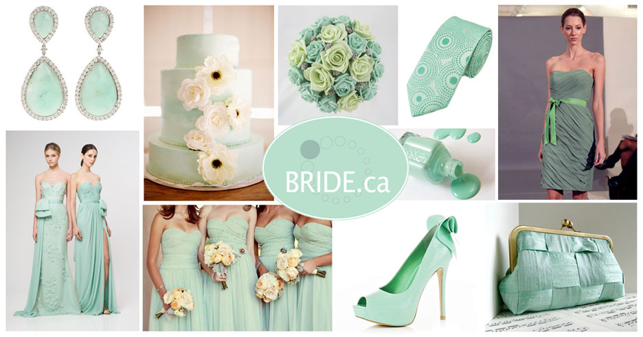 mint wedding theme for 2013