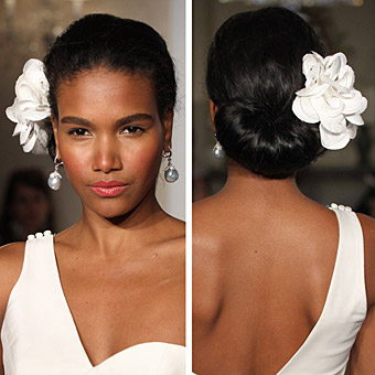 single white flower, bridal hair accessory