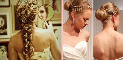 Different ways to arrange a french braid for a wedding hairstyle