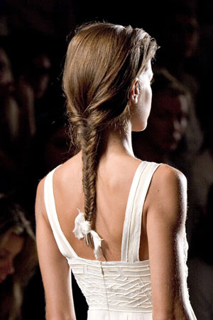 Wedding Hairstyle: single braid
