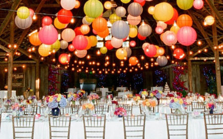 Bright & colorfull wedding decorations