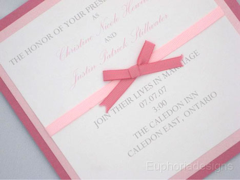 Euphoria designs wedding invitation