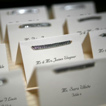 wedding reception, placecards display