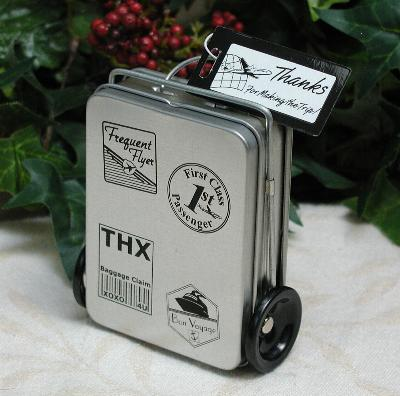 DIY wedding favour tin suitcase