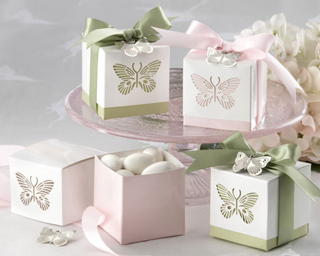 DIY butterfly favour boxes