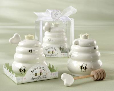 Ceramic Honey Pot spring wedding favors