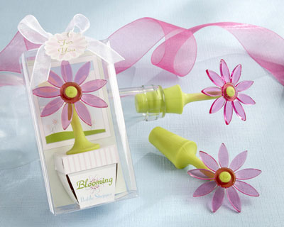 Blooming Flower Bottle Stoppers spring wedding favors