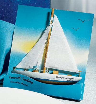 Sailboat Fridge Magnet wedding favours