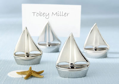 Sterling Sailboat wedding favours