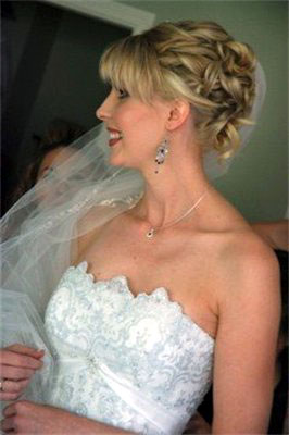 Strapless gown bridal hairstyle, by Sarah Loveng in Vancouver