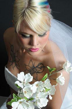 Bridal Hairstyle   Hair Extensions, adding color