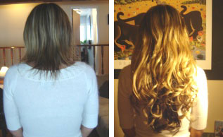 Bridal Hairstyle   Hair Extensions, before & after