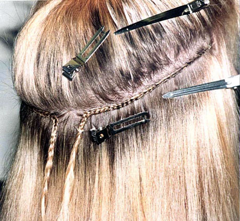 Bridal Hairstyle   Hair Extensions, wefts application