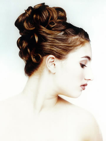 Another Un-done up-do bridal hairstyle, by John di Bratto, Toronto