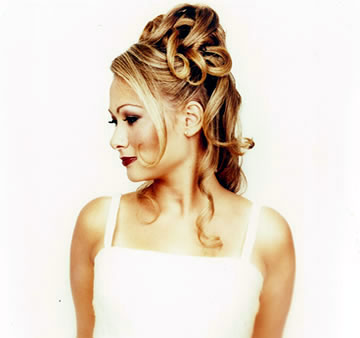 Another structured up-do bridal hairstyle, by John di Bratto, Toronto